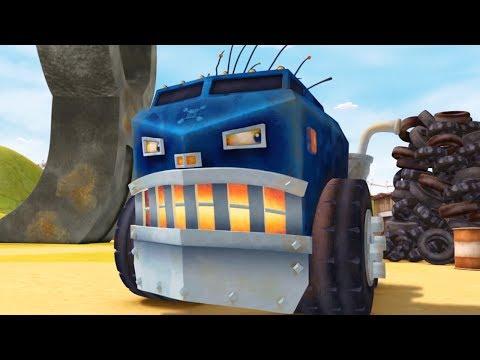 Мультики про машинки - ТРАКТАУН - Все серии про Биг Рига - Огромный 18-колесный грузовик-монстр