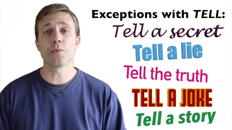Commonly Confused Words in English - SAY vs TELL