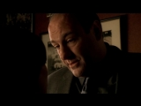 (Клан Сопрано S04E08_10) Семья выбралась на ужин с тёлками, Валентина вещает про извращенства Ральфа