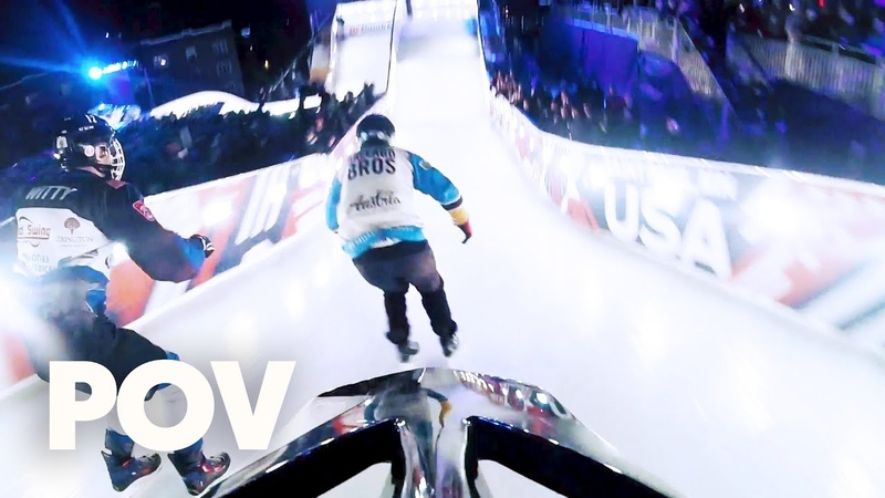 (POV) On the run on the ice. | Red Bull Crashed Ice 2018 Saint Paul, Minnesota