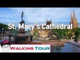 Walking Best Places in Syndey St Mary's Cathedral Sydney CBD Walk 2018 BEST Peaceful Place