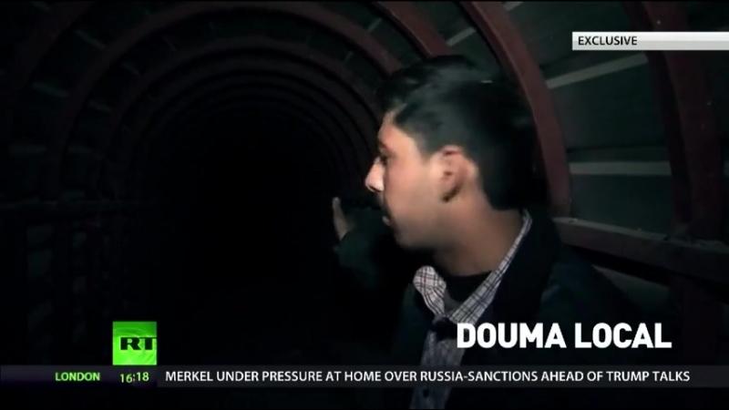 Massive Douma tunnels, built by jihadists' slaves