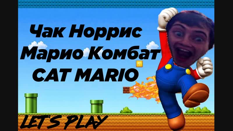 Играем в Супер Марио за ЧАКА НОРРИСА, разносим черепах в Марио Комбат и CAT MARIO
