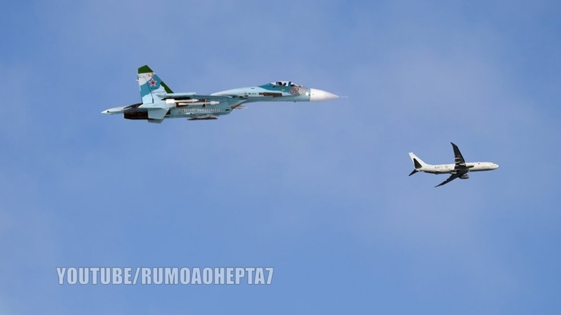 Russian Su-27 Fighter Jet Intercepts US Spy Plane Over Baltic Sea - Russian Air Force