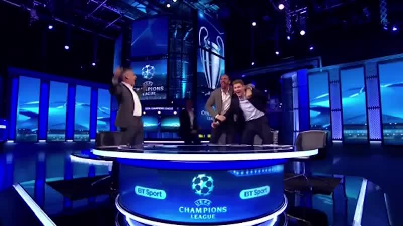 Реакция Линекера Джеррарда Оуэна и Фердинанда на победный гол Барселоны