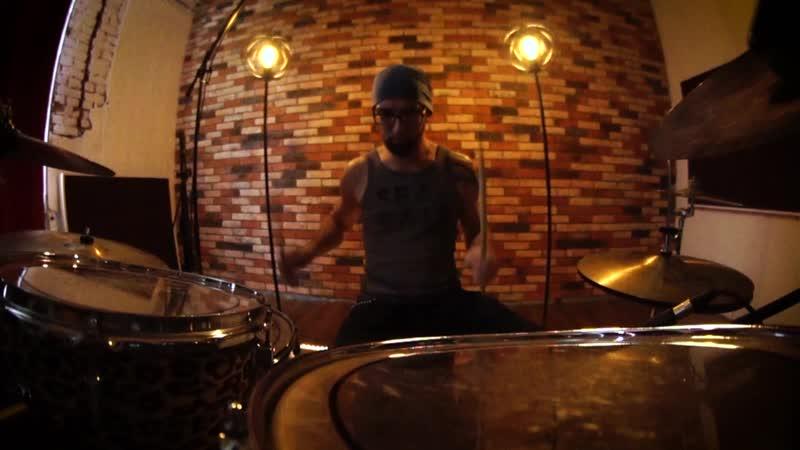 Muse - Psycho - Drum cover - Вячеслав Полагаев (GORODKOVDRUM)