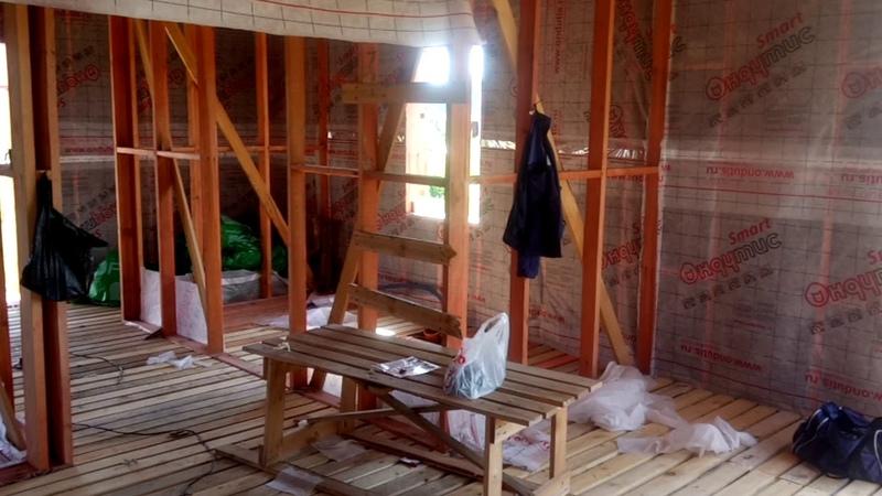 Строительство каркасного дома в деревне Новые Ключи