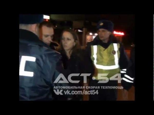 Пьяная девушка устроила дебош в Новосибирск 2012