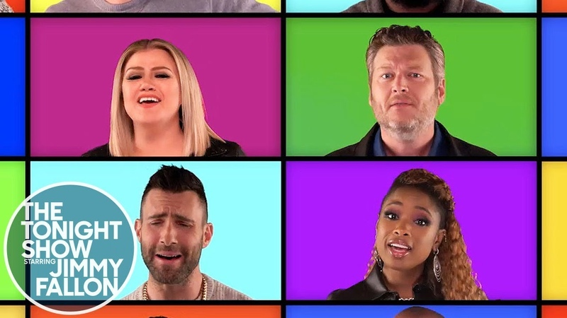 Jimmy, The Roots and The Voice Coaches Sing a Mashup of Their Hits (A Cappella)