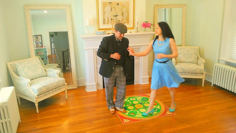 Akiko y Yoel bailando Casino Bien Formado