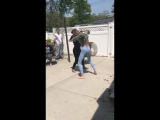 Hoodclips two blonde girls fighting girl in green wins