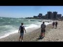 Сильный ветер большие волны