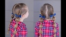 Dutch Braid and Bubble Pigtails Q's Hairdos