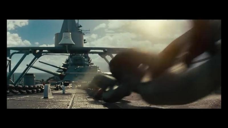 Бой линкора Миссури с инопланетным кораблем Морской бой
