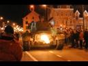 M26 Pershing with huge backfires Bastogne 2009