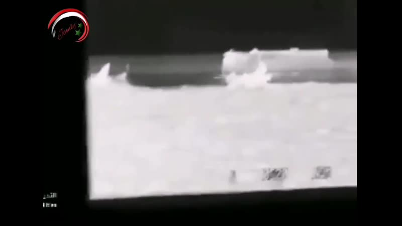 From inside the T90 and targeting one of the terrorists points in the western Hama countryside at night