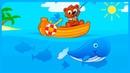 МЕДВЕДЬ на РЫБАЛКЕ Ловим рыбу и сапог Игра мультфильм на Мульт Карапульт