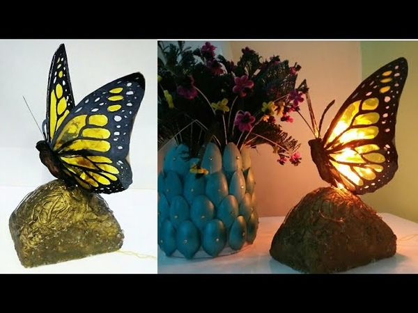 DIY Butterfly table lamp shade paper lamp shade room decor art my passion
