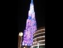 Ночная Бурдж-Халифа.Дубай 2018