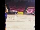 Тренировка либеро перед матчем