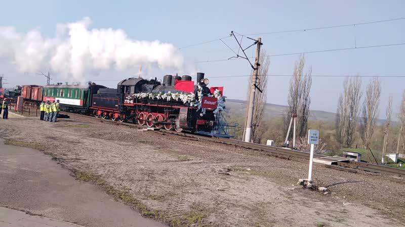Поезд Победы на ст Лиски