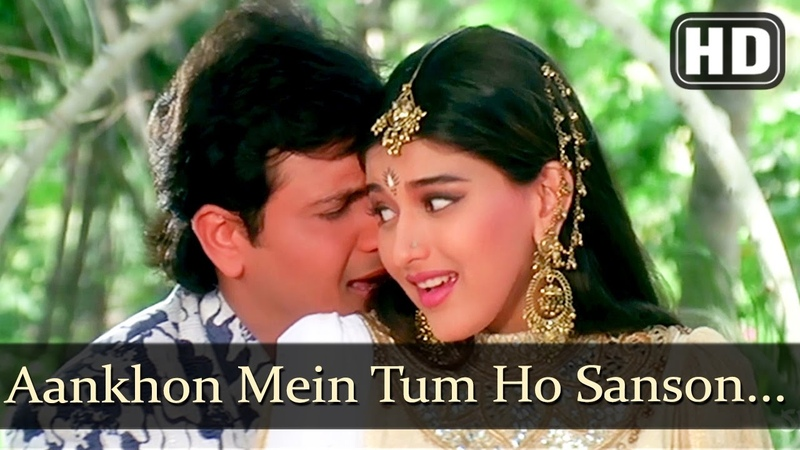 Aankhon Mein Tum Ho - Aag (1994) Govinda - Sonali Bendre - Kumar Sanu - Bollywood Songs - Filmigaane