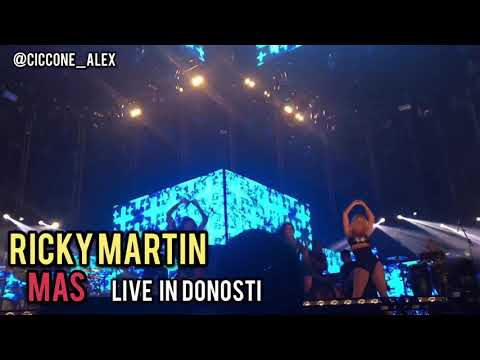RICKY MARTIN - MÁS LIVE IN DONOSTI - SPAIN TOUR 2018