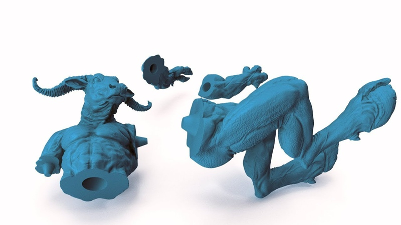 How to Prepare Zbrush 4R8 Files for 3D Printing using Live Boolean