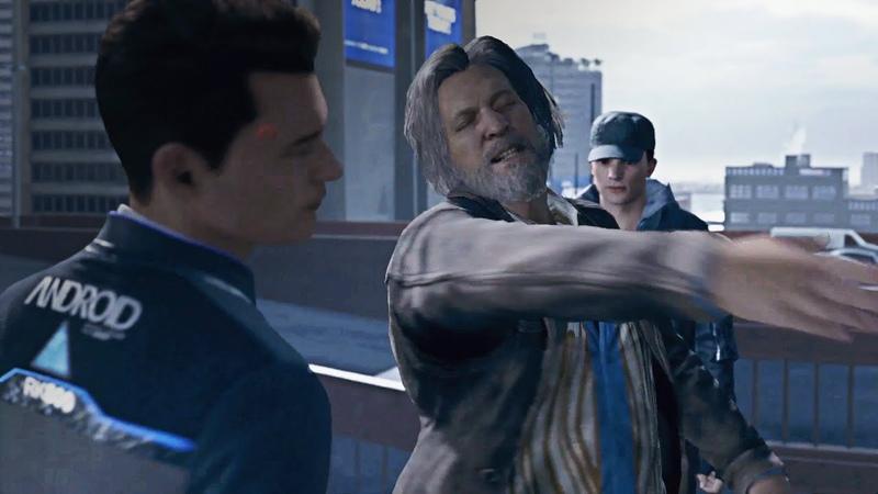 Hank vs Connor Slap Battle