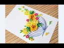 Paper Quilling flower wall decoration Quilling flower card