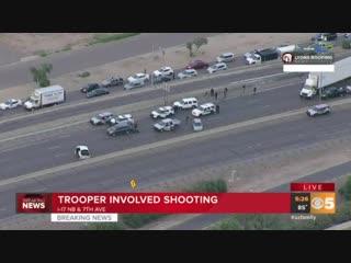Полицейские изрешетили автомобиль подозреваемого во время погони в сша