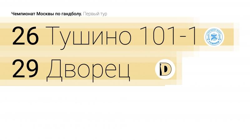 Тушино — Дворец 26:29. Чемпионат Москвы по гандболу