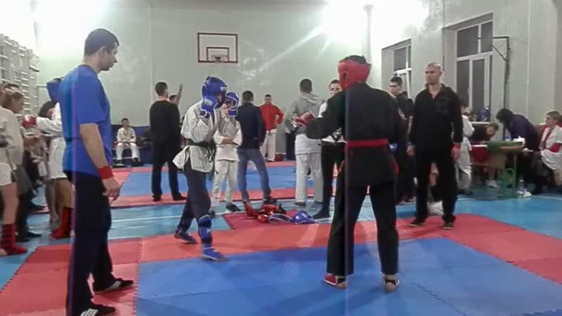 Соревнования от 30.12.18. Корниенко Владимир 2 бой