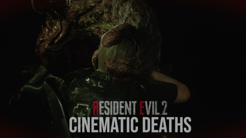 RESIDENT EVIL 2 REMAKE ALL IN GAME CINEMATIC DEATHS