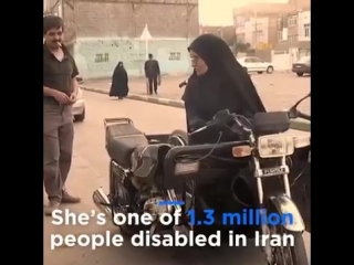 Zahra Sedighi win her disability