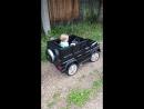 Сынок на своей машинке катается