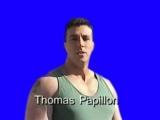 Gachimuchi Thomas Papillon on blue screen (Томас Папиллон на синем экране)