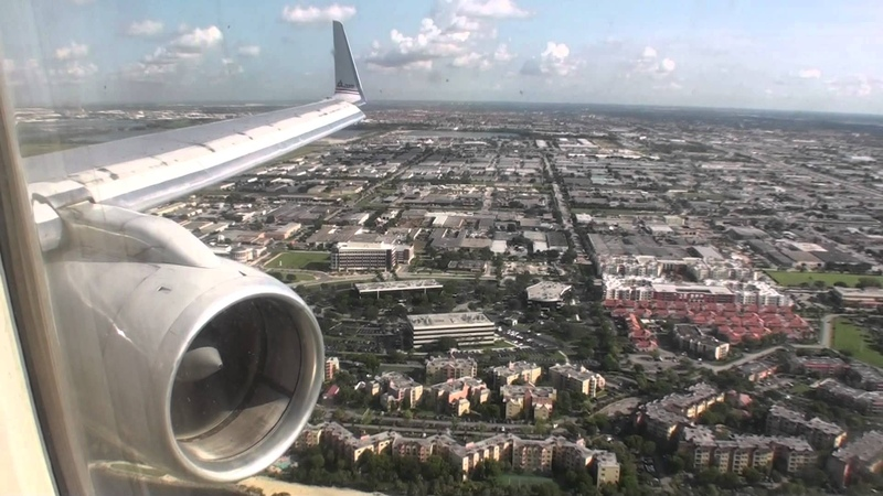Awesome Reverse Thrust Great HD 757 Landing In Miami