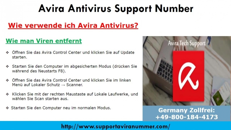 Rufen Sie 0-800-184-4173 für technische Unterstützung Avira Antivirus Support Number