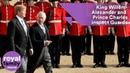 King Willem-Alexander and Prince Charles inspect Guards