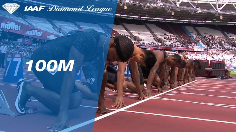 Ronnie Baker 9 90 Wins Men's 100m IAAF Diamond League London 2018