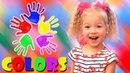 Learn Colors for Children Finger Family Song Body Paint