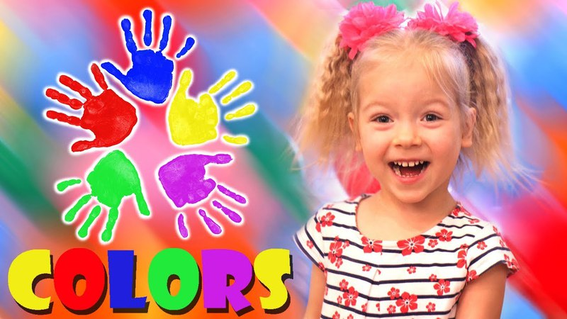 Learn Colors for Children Finger Family Song Body Paint