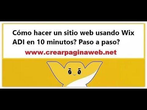 Cómo hacer un sitio web usando Wix ADI en 10 minutos? Paso a paso