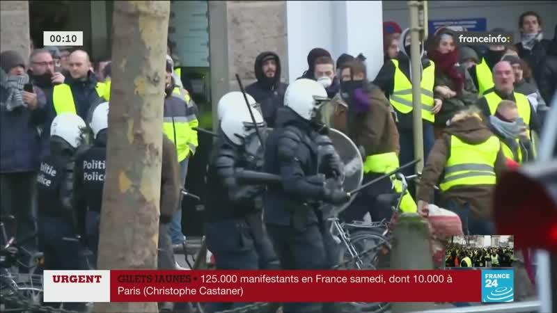 Le Parlement Européen attaqué par des GJ en Belgique ! - France 24