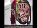Граффити с пародией 50 Cent на 6ix9ine [NR]