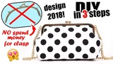 DIY WIRE FRAME CLASP PURSE BAG IN THE EASY WAY ~ NO SPEND MONEY