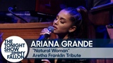 ariana grande and the roots perform (you make me feel like) a natural woman in tribute to aretha franklin