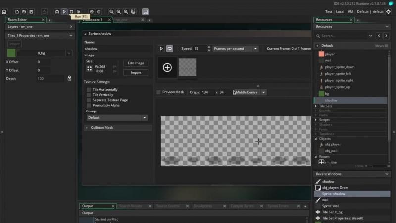[Гоша Дударь] GameMaker Studio / Урок 5 - Тень, задний фон и скрипты