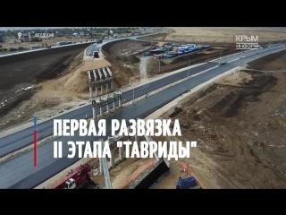 Первая развязка II этапа трассы Таврида в Крыму  Феодосийский участок